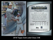 2016 Topps Gold Label Class 3 #8