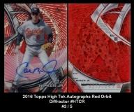 2016 Topps High Tek Autographs Red Orbit Diffractor #HTCR