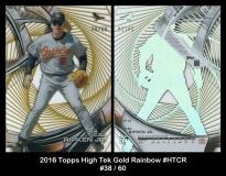 2016 Topps High Tek Gold Rainbow #HTCR