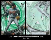2016 Topps High Tek Green Rainbow #HTCR