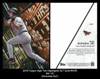 2016 Topps High Tek Highights 5x7 Gold #HCR