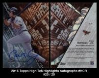 2016 Topps High Tek Highlights Autographs #HCR