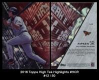 2016 Topps High Tek Highlights #HCR