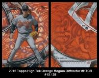 2016 Topps High Tek Orange Magma Diffractor #HTCR