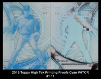 2016 Topps High Tek Printing Proofs Cyan #HTCR