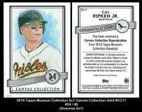 2016 Topps Museum Collection 5x7 Canvas Collection #CC11