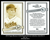 2016 Topps Museum Collection 5x7 Canvas Collection Gold #CC11