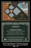 2016 Topps Museum Collection Primary Pieces Quad Relics Copper #PPQRCR