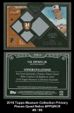 2016 Topps Museum Collection Primary Pieces Quad Relics #PPQRCR