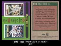 2016 Topps Throwback Thursday #33