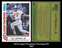 2016 Topps Throwback Thursday #72