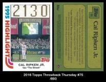 2016 Topps Throwback Thursday #75