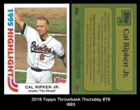 2016 Topps Throwback Thursday #76