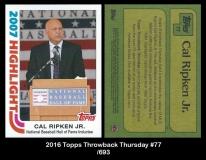 2016 Topps Throwback Thursday #77
