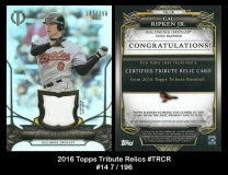 2016 Topps Tribute Relics #TRCR