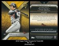 2016 Topps Triple Threads 5x7 Gold #38