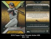 2016 Topps Triple Threads Amber #38