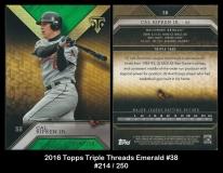2016 Topps Triple Threads Emerald #38