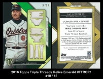 2016 Topps Triple Threads Relics Emerald #TTRCR1