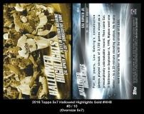 2016 Topps 5x7 Hallowed Highlights Gold #HH8