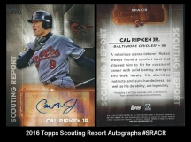 2016 Topps Scouting Report Autographs #SRACR