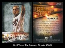 2016 Topps The Greatest Streaks #GS01