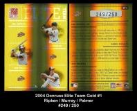 2004 Donruss Elite Team Gold #1