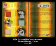 2004 Donruss Elite Team Jerseys #1