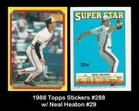 1988 Topps Sticker #288 w Neal Heaton #29