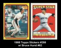 1988 Topps Stickers #288 w Bruce Hurst #62