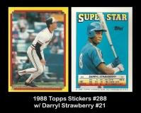 1988 Topps Stickers #288 w Darryl Strawberry #21