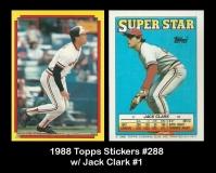 1988 Topps Stickers #288 w Jack Clark #1