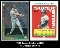 1990 Topps Stickers #160 w George Bell #46
