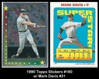 1990 Topps Stickers #160 w Mark Davis #31