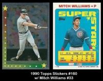 1990 Topps Stickers #160 w Mitch Williams #33