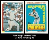 1990 Topps Stickers #231 w Ryne Sandberg