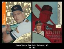 2000 Topps Tek Gold Pattern 1 #5
