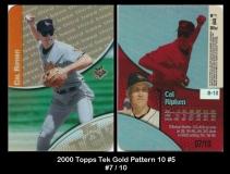 2000 Topps Tek Gold Pattern 10 #5