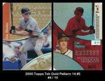 2000 Topps Tek Gold Pattern 14 #5