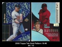 2000 Topps Tek Gold Pattern 16 #5