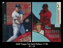 2000 Topps Tek Gold Pattern 17 #5