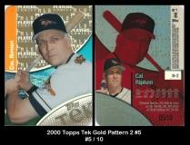2000 Topps Tek Gold Pattern 2 #5