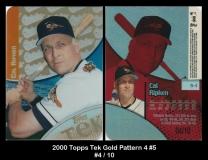 2000 Topps Tek Gold Pattern 4 #5