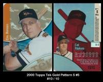 2000 Topps Tek Gold Pattern 5 #5