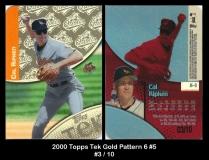 2000 Topps Tek Gold Pattern 6 #5