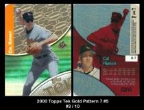 2000 Topps Tek Gold Pattern 7 #5